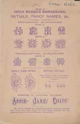 Advert for Nota Bene, India ink rubber stamp manufacturers